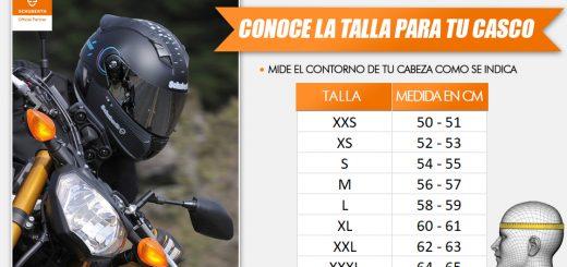 Medidas de tu casco
